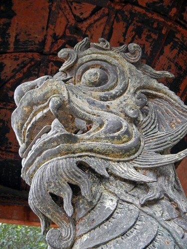 Minh Mang Tomb in Hue: Dragon