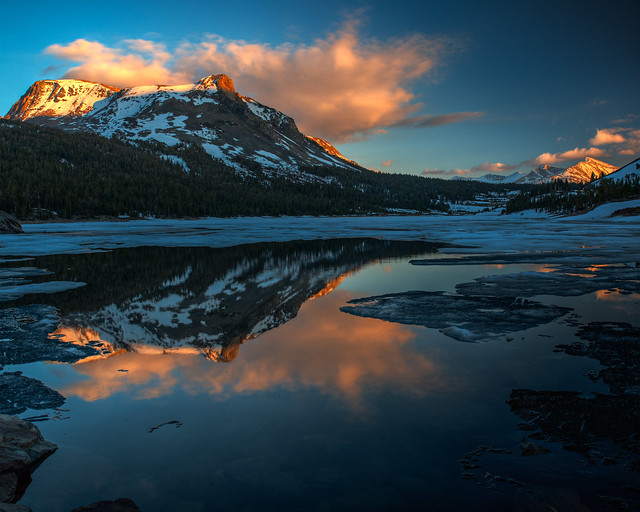 Evening at Tioga Lake, Yosemite National Park, California