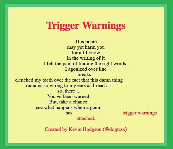 trigger warnings poem