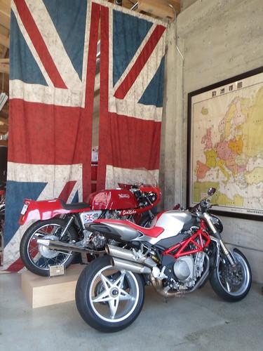 Norton Motorcycles in a Showroom