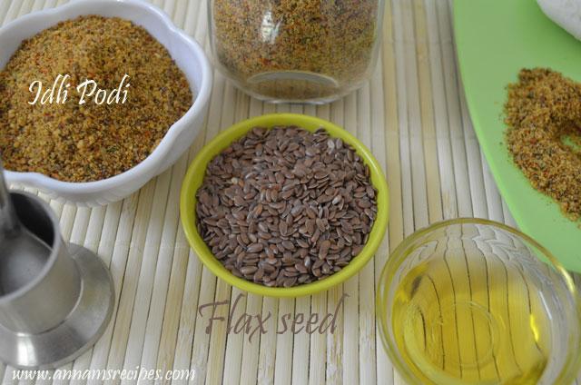 Flax Seed Idli Podi / Chutney Powder