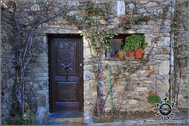 Detalle casa de Canillo, Canillo. Andorra.