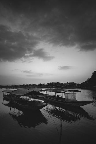 japan japon river rio atardecer sunset sky cielo clouds nubes