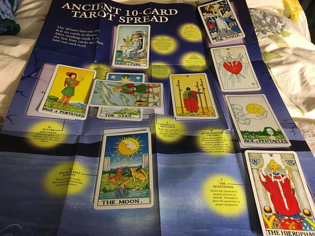 This is my first ever tarot reading for myself  It sort of