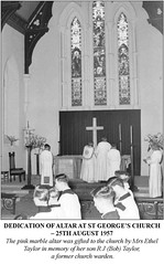 Dedication of Altar at St George's Church 1957