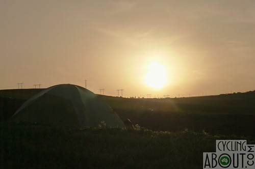 Sunset whilst wild camping in Azerbaijan