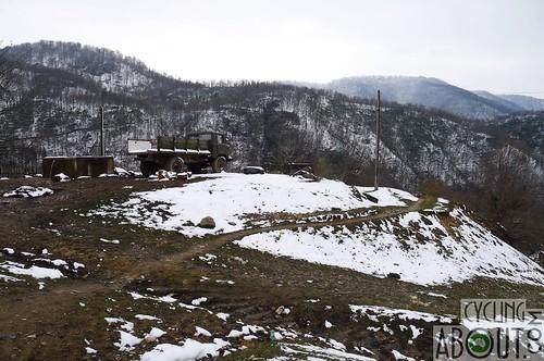 Snowy mountains in Georgia