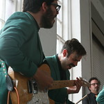 Sat, 22/06/2013 - 4:15pm - New York City's Lucius performs under the giant Phoenix at MASS MoCA. Photo by Laura Fedele