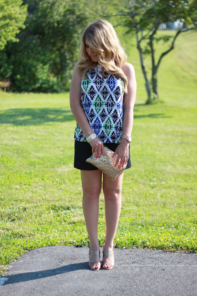 ikat halter top summer outfit