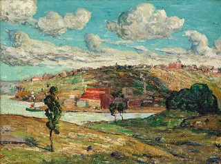 Ernest Lawson - Shadows, Spuyten Duyvil Hill [c.1910]