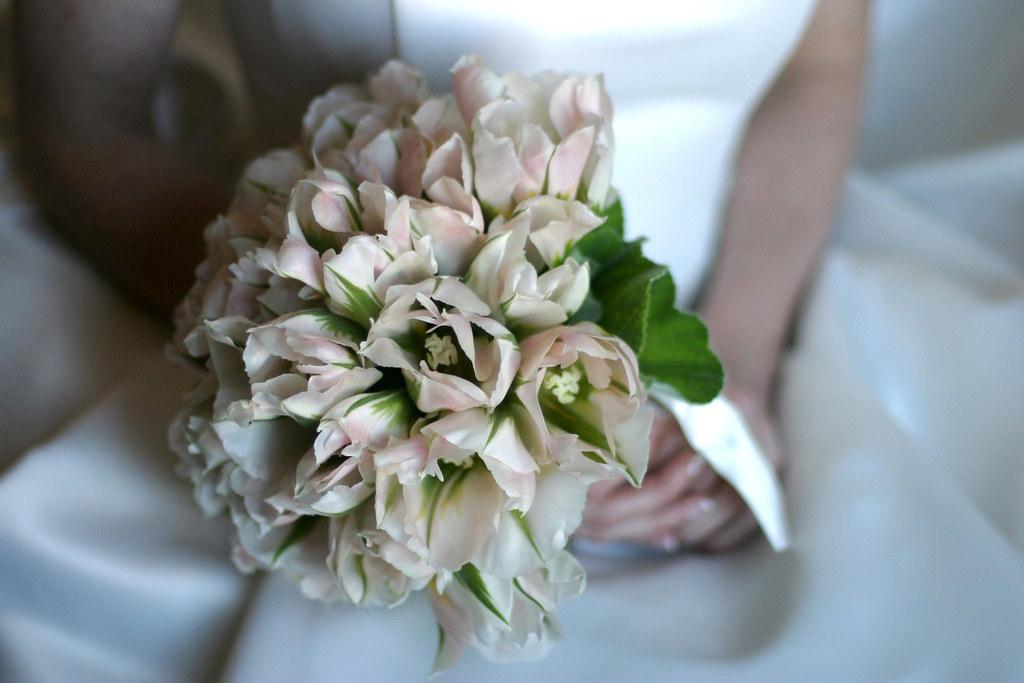Bridal Bouquet Blush Tulips Geranium Paul Robertson Flickr