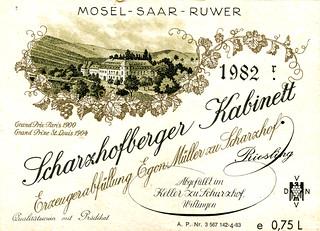 Scharzhofberger 1982 (Saar)