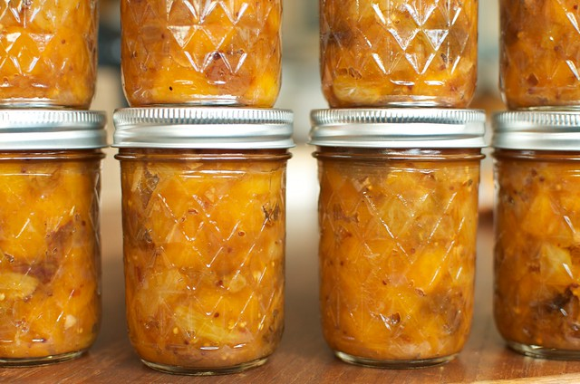 peach chutney with honey