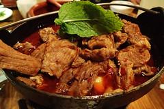 yakiniku(0.0), samgyeopsal(0.0), dak galbi(0.0), meal(1.0), meat(1.0), food(1.0), dish(1.0), bulgogi(1.0), cuisine(1.0),