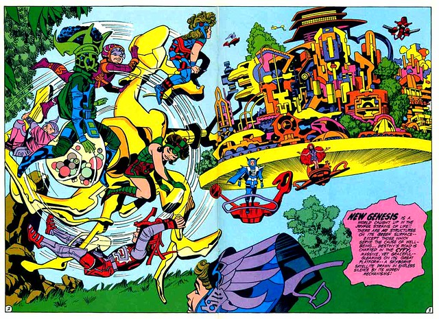 New Gods 2 New Genesis splash page by Kirby