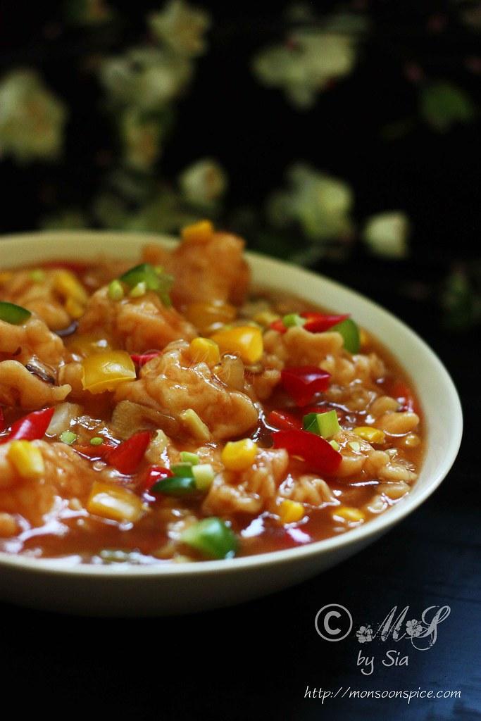 Gobi Manchurian/Cauliflower Fritters In Spicy Sauce Recipes ...