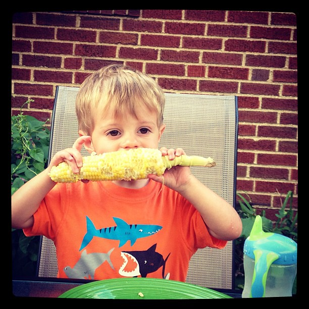 This pic is SO summer! #sweetcorn #endofsummerfun