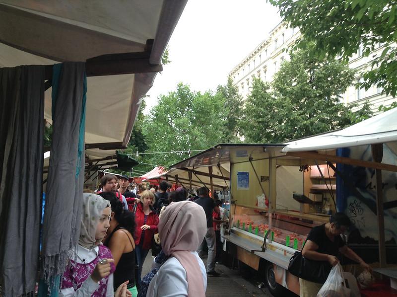 Turkish outdoor market in Berlin.