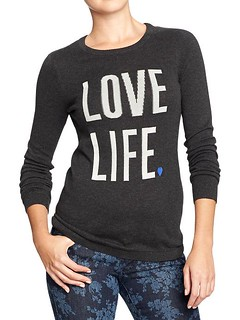 Love life sweater.
