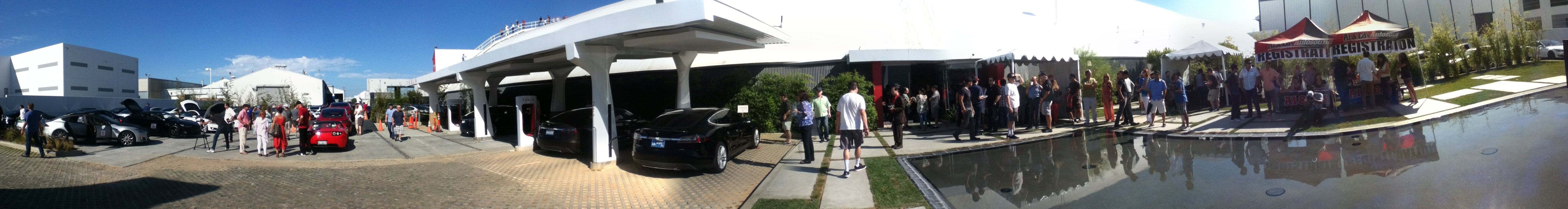 Panoramic view of the Tesla Run.