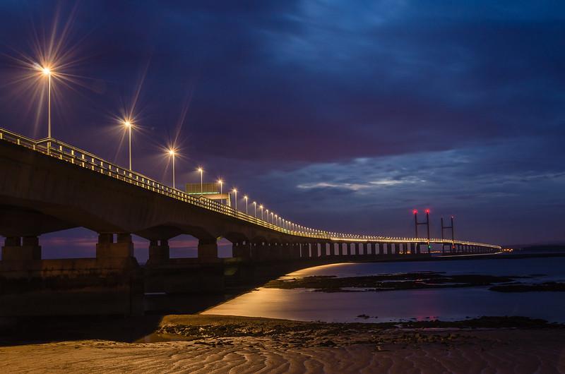 Severn Bridge at Night