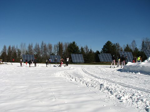 Trailside solar panel array at Craftsbury Outdoor Center