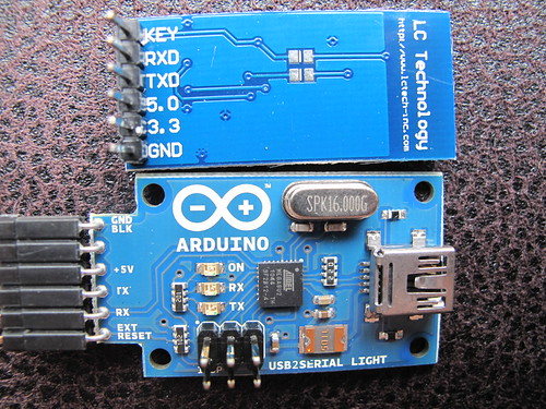 USB Bluetooth module (HC-06) and USB serial adapter