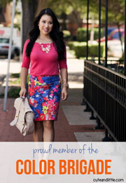 cute and little fashion blog color brigade