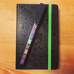 #moleskin @evernote #pen #custom #green #notepad #lifeatcloudie