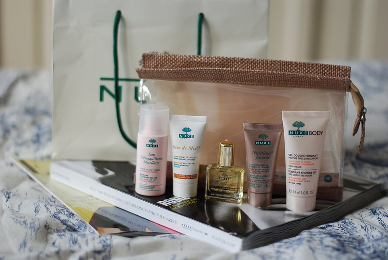 chambray and curls Nuxe The Essentials Travel Kit Review