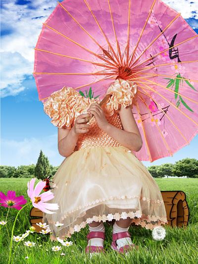 девочка с зонтиком