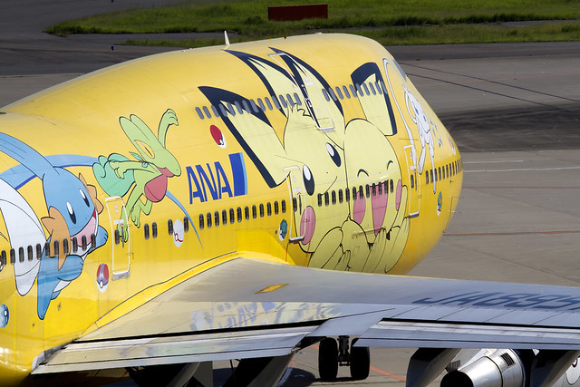 ANA B747-400D Pikachu Jumbo