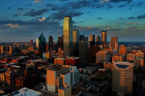 city sunset usa skyline dallas nikon downtown cityscape texas bigd d7000