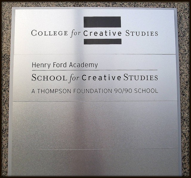College for Creative Studies: Plaque, Henry Ford Academy--Detroit MI