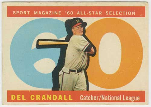 1960 Topps Del Crandall All-Star