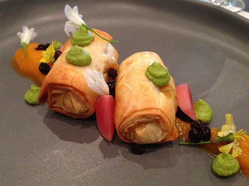 Pumpkin Filo at Gladioli Restaurant