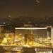 Crescent Moon rising over Budapest by György Soponyai