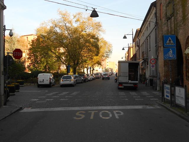 stop per attraversamento perdoni e biciclette, Rovigo