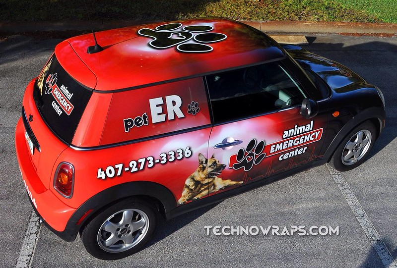 MINI Cooper car wrap by TechnoSigns in Orlando