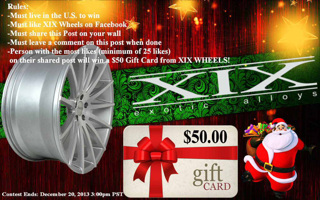 WIN A FREE $50 GIFT CARD WITH XIX WHEELS!