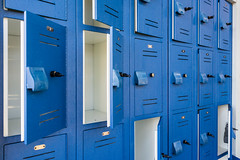locker, interior design, door, blue,