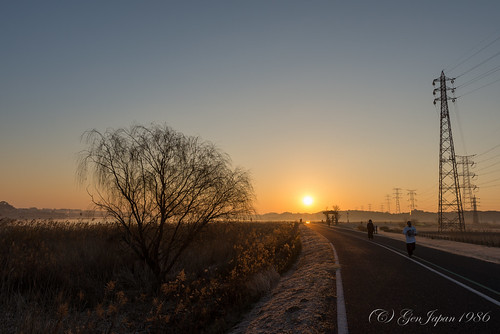 sky sun japan sunrise landscape twilight day clear chiba 日本 太陽 空 風景 25mm 2014 千葉県 日の出 teganuma 朝日 朝焼け 手賀沼 nikond600 zf2 柏市 distagont225 pwwinter