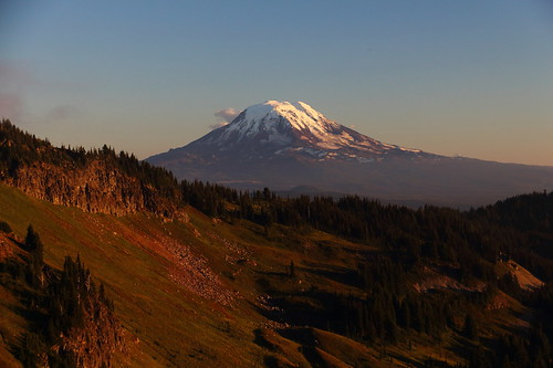 Mt Adams from Jordan Basin, Goat Rocks Wilderness, Lewis County, Washington by jlcummins - Washington State