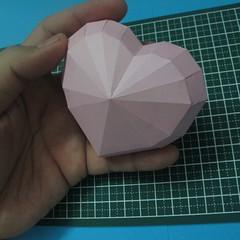 วิธีทำของเล่นโมเดลกระดาษรูปหัวใจ 016