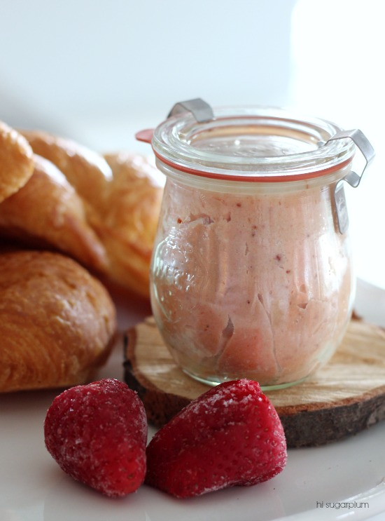 Hi Sugarplum | Homemade Strawberry Butter