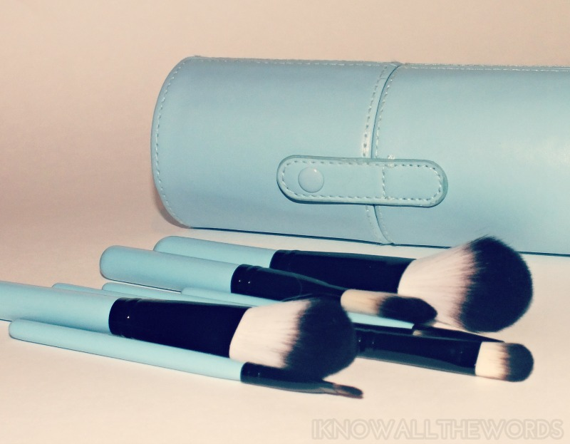Tmart 8 piece blush set blue handle (40)
