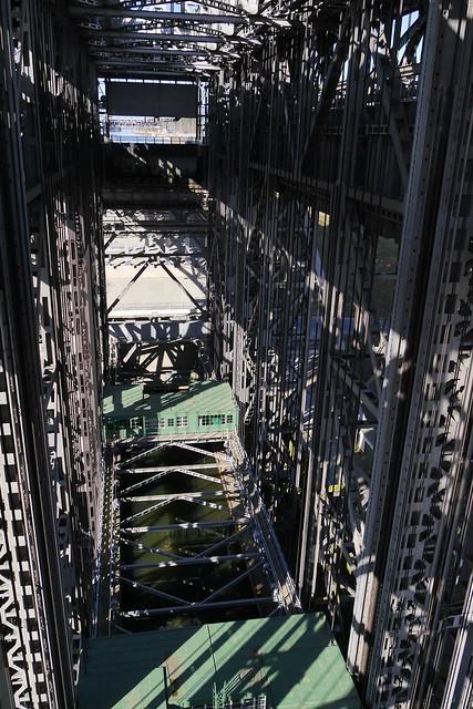Blick in das Hebewerk von der oberen Ebene