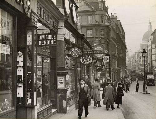 Cannon Street tube station, London - streetscene 1939