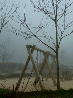 Playground in the fog