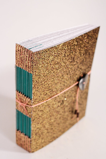Custom Glitter Handmade Button Hole Book-6